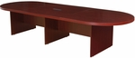 Legacy 144''W Modular Racetrack Wooden Conference Table with Power Data Grommet - Mahogany [LCTRT14452MH-FS-REG]