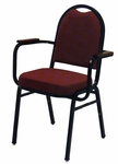 1500 Series Stacking Hospitality Armchair with Rounded Back and 2'' Upholstered Box Seat [1530-1-IFK]