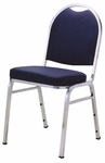 1500 Series Stacking Armless Hospitality Chair with Rounded Back and 3'' Upholstered Box Seat [1530-IFK]