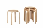 17'' Bentwood Stool - Natural - Set Of 4 [1771NAT-04-AS-U-FS-LIN]