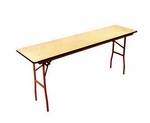 6' Rental Elite Series Folding Conference Table with Non Marring Floor Glides - 18''W x 72''L x30''H [201001-MES]