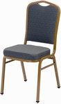 1800 Series Stacking Armless Hospitality Chair with Cathedral Back and 3'' Upholstered Box Seat [1830-IFK]