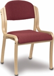 1900 Series Stacking Wood Frame Armless Hospitality Chair with 2'' Upholstered Seat [1920-IFK]