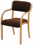 1900 Series Stacking Wood Frame Hospitality Armchair with 2'' Upholstered Seat [1921-IFK]