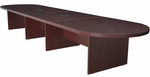 Legacy 192''W Modular Racetrack Wooden Conference Table with 2 Power Data Grommets - Mahogany [LCTRT19252MH-FS-REG]