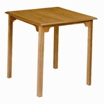 155 Dining Table: Shaped Top with Square Legs [155-ACF]