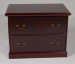 2-Drawer Wood Veneer Lateral File in Mahogany Finish [952MH-FS-FDG]