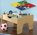 2 in 1 Activity Table for Trains and LEGO® Double Sided Play Board - Natural [17576-FS-KK]