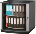 Moll 2 - Tier 2 LockFile Rotating Carousel Storage Cabinet - Gray [LF2-FS-EOS]