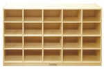 Birch 20 Cubby Tray Cabinet with 12'' Deep Cubbies - 48''W x 13''D x 30''H [ELR-0426-ECR]