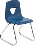 2000 Series Sled Base Stack Chair with 14''H Seat - 16.38''W x 15.5''D x 23.12''H [2614-VCO]