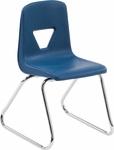 2000 Series Sled Base Stack Chair with 16''H Seat - 18.38''W x 18''D x 26.5''H [2616-VCO]