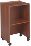 21.25'' W x 17.5'' D x 33.75'' H Lectern Base and Media Cart - Cherry [8917CY-FS-SAF]