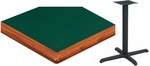 24'' x 42'' Laminate Table Top with Bullnose Wood Edge and Base - Standard Height [ATWB2442-T2430M-SAT]