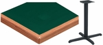 24'' x 42'' Laminate Table Top with Waterfall Wood Edge and Base - Standard Height [ATW2442-T2430M-SAT]