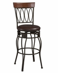 Four Oval Back 24''H Swivel Counter Stool [02562MTL-01-KD-U-FS-LIN]