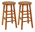 24''H Beveled Seat Stool-Set of 2 [75284-FS-WWT]