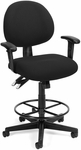 24 Hour Task Chair with Arms and Drafting Kit - Black [241-AA-DK-206-FS-MFO]