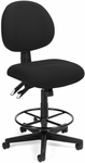 24 Hour Task Chair with Drafting Kit - Black [241-DK-206-FS-MFO]