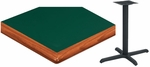 24'' Square Laminate Table Top with Bullnose Wood Edge and Base - Standard Height [ATWB2424-T2222M-SAT]
