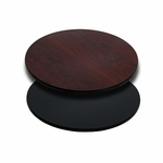 24'' Round Table Top with Reversible Black or Mahogany Laminate Top [BFDH-24BKMAHRD-TDR]
