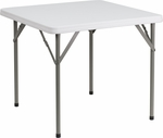 34'' Square Granite White Plastic Folding Table [DAD-YCZ-86-GG]