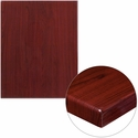 24'' x 30'' High-Gloss Mahogany Resin Table Top with 2'' Thick Edge