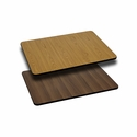 24'' x 30'' Rectangular Table Top with Reversible Natural or Walnut Laminate Top