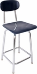 Hard Plastic Tubular Welded Stool with Square Seat and Back [W324NSS-NSL]