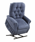 Two Way Reclining Power Lift Chair with Matching Arm and Headrest Covers - Encounter Blue Fabric [2555-EBL-FS-MEDL]