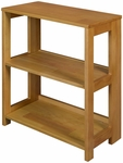 Flip Flop 28''H High Folding Wooden Bookcase - Oak [HBCF2822MO-FS-REG]