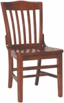2996 Side Chair with Slat Back & Wood Saddle Seat [2996-ACF]