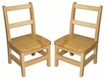10''H Assembled 3 Rung Hardwood Ladderback Chair with Mortise and Tenon Construction [ELR-15316-ECR]