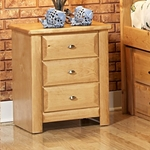 Rustic Style 21''W x 18''D Solid Pine 3 Drawer Nightstand - Caramel [3534538-C-FS-CHEL]