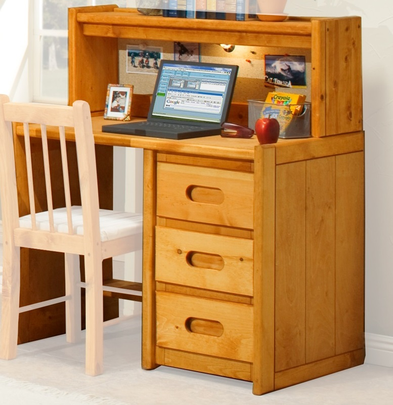 rustic style 40 39 39 w x 24 39 39 d solid pine 3 drawer student desk with hutch cinnamon 3544785 4788. Black Bedroom Furniture Sets. Home Design Ideas
