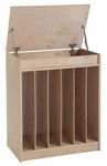 Birch Oversized Book and Poster Display and Storage Unit with Dry Erase Board Front [ELR-0690-ECR]