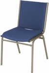 400 Series Stacking Square Steel Frame Armless Guest Chair with Full Back and 3'' Upholstered Seat [430-IFK]