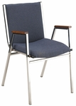 400 Series Stacking Square Steel Frame Hospitality Armchair with Full Back and 3'' Upholstered Seat [431-IFK]