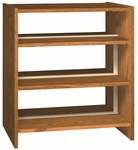 3-Shelf Double Sided Bookcase Starter [LS42DB-IRO]