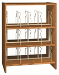 3-Shelf Double Sided Picture Book Bookcase Starter [PBS48DB-IRO]
