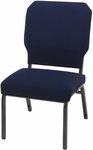 1030 Series Stacking Steel Frame Armless Pew Chair with 3'' Upholstered Seat [HWC1030-IFK]