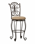 Gathered Back 30''H Swivel Bar Stool [02791MTL-01-KD-U-FS-LIN]