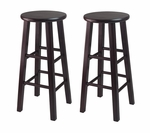 30''H Bar Stool with Square Legs in Espresso-Set of 2 [92260-FS-WWT]