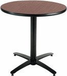 30'' Round Laminate Pedestal Table with Dark Mahogany Top - Black Arch Base [T30RD-B2115-MH-IFK]
