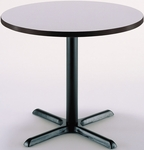 30'' Round Hospitality Grey Nebula Table with X-Base [T30RD-B2015-GN-IFK]