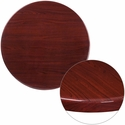30'' Round High-Gloss Mahogany Resin Table Top with 2'' Thick Edge