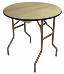 30'' Reliant Standard Series Round Folding Table with Non Marring Floor Glides - 30''W x 30''H [222000-MES]