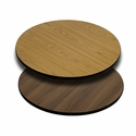 30'' Round Table Top with Reversible Natural or Walnut Laminate Top
