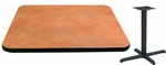 30'' Square Laminate Table Top with Vinyl T-Mold Edge and Base - Bar Height [ATS3030-T2222-BAR-3M-SAT]