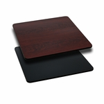 30'' Square Table Top with Reversible Black or Mahogany Laminate Top [BFDH-3030BKMAHSQ-TDR]